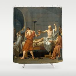 Jacques Louis David The Death of Socrates Shower Curtain