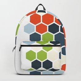 HEXAGONS - Blorangreen Backpack