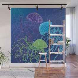 Ethereal Jellies Wall Mural