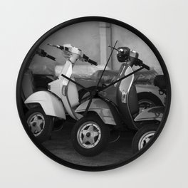 4 Scooters Wall Clock