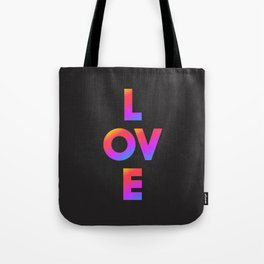 Love, inspirational typography, inspiring illustration for strong women, gift for her Tote Bag