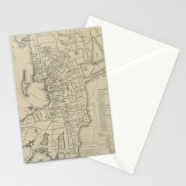 Vintage Map of Newport Rhode Island (1901) Stationery Cards