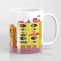 buildings Mugs featuring Buildings by Luis Pinto