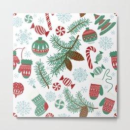 Christmas Pattern 06 Metal Print