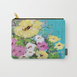 Spring Floral on Vintage Lawn Chair Carry-All Pouch