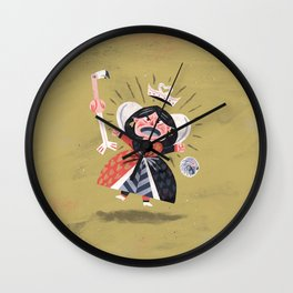 Queen of Hearts - Alice in Wonderland Wall Clock
