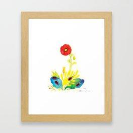 "Illustration for the children's book ""Small White and her Friends"" 1 Framed Art Print"