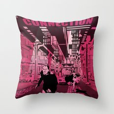 The French connection vector Throw Pillow