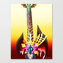 Fusion Keyblade Guitar #64 - Ultima Weapon & End of Pain Canvas Print