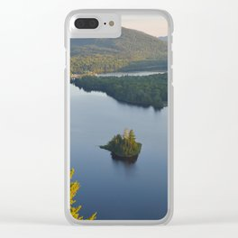 Lac in Mont-Tremblant national park in sunshine, Quebec, Canada Clear iPhone Case
