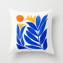 Community Garden / Mid Century Abtract Throw Pillow