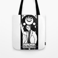 carl sagan Tote Bags featuring HAIL SAGAN! by LADYMAGICUNICORN