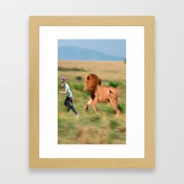 Run jb run Framed Art Print