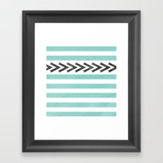 ARROW STRIPE {TEAL} Framed Art Print