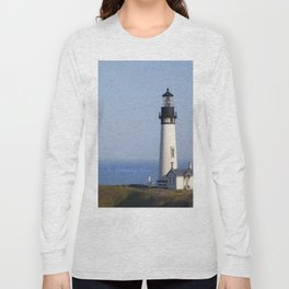 Lighthouse Newport Oregon Long Sleeve T-shirt