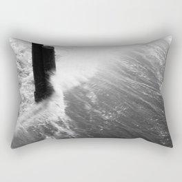Churning Surf Amongst The Pier Rectangular Pillow