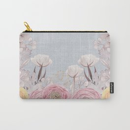 Floral Spring Greatings - Pastel Flowers Carry-All Pouch