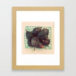 Figs in a Basket Color Photo Framed Art Print