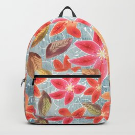 Cute Lilies and Leaves Backpack