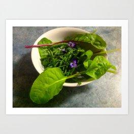 Eat Your Greens Art Print