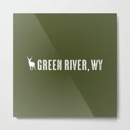 Deer: Green River, Wyoming Metal Print