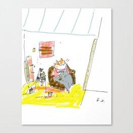 Studio Cat Print Canvas Print