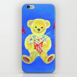 Bear with flowers iPhone Skin