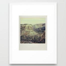 Colorado National Monument - Polaroid Framed Art Print
