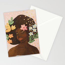 Afro Beauty Queen Stationery Cards