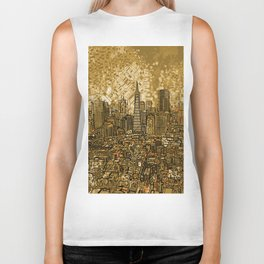 san francisco city skyline Biker Tank