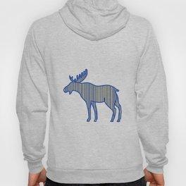 Moose Silhouette Drawing Hoody