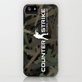 Counter strike weapon camouflage iPhone Case
