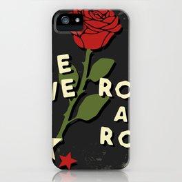 Grunge rock slogan print iPhone Case