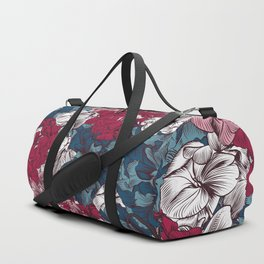 Beautiful floral design with hand drawn petunias Duffle Bag