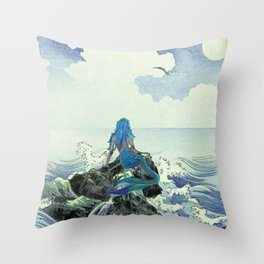 Beauty Mermaid Throw Pillow