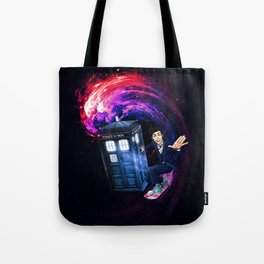 Doctor Who Space Surfing Tote Bag