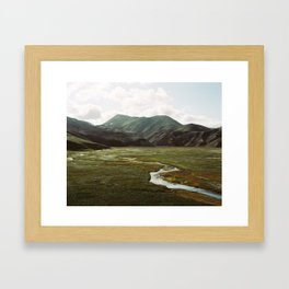 Iceland - Landmannalaugar (Pentax 67 & Kodak film) Framed Art Print