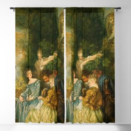 """Antoine Watteau """"The Love Lesson"""" Blackout Curtain"""