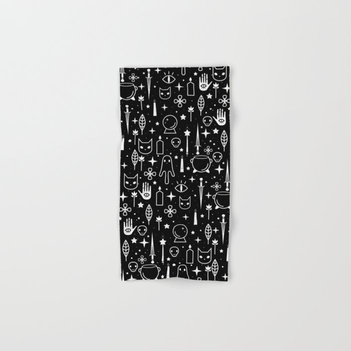 Spirit Symbols Black Hand & Bath Towel