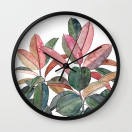 Rubber Plant Wall Clock