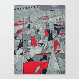 Porsche Racing Canvas Print