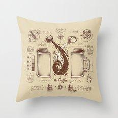 Le Coffee (Fluid of Creativity) Throw Pillow