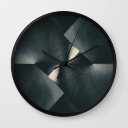 Rusty Old Blades Wall Clock