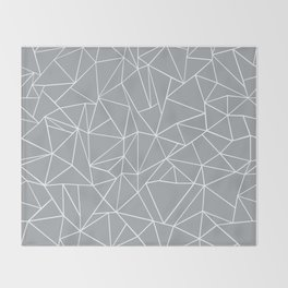 Abstraction Outline Grey Throw Blanket