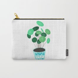 Chinese money plant // Money plant // Good fortune plant Carry-All Pouch