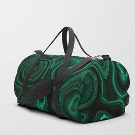 Closeup patterns of malachite Duffle Bag