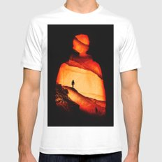 Love Aloneness MEDIUM White Mens Fitted Tee