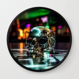 Rainbow Skull Ring Wall Clock