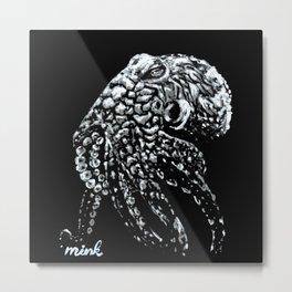 Deep Dark Octopus Metal Print