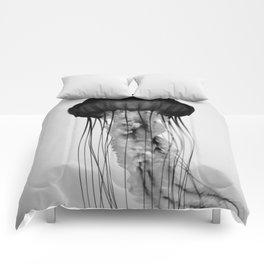 Jellyfish Black and White Comforters